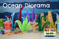 Pink and Green Mama: Ocean Box Diorama