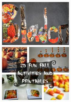 25 fall activities and printables