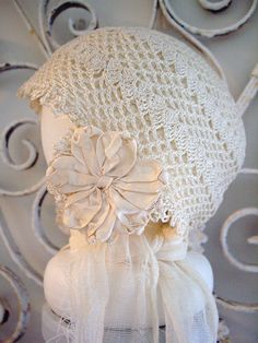 another antique baby bonnet
