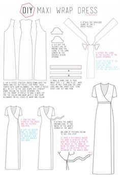 DIY MAXI WRAP DRESS Tutorial