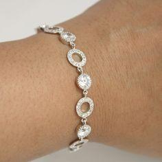 Wedding Jewelry Bridal Bracelet Clear Cubic Zirconia Bracelet Wedding Bracelet
