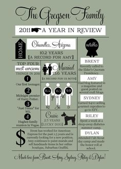 A year in review - Great idea for a New Year's card!