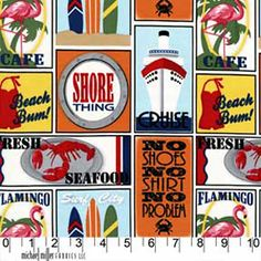 Travel Stickers Seaside ~ Shore Thing @ SewMamaSew