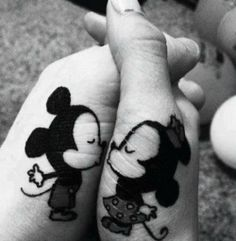 cute tattoo. Would be an awesome couple tattoo!