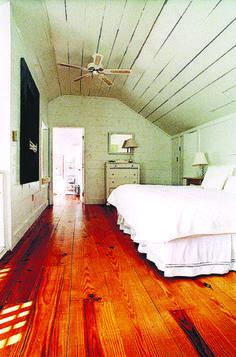 Heart Pine RECLAIMED wide plank flooring - Character Plank
