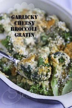 Garlicky Cheesy Broccoli Gratin Recipe