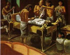 Paraschistes:  One of the lower classes employed in embalming and were held in abhorrence by the Egyptians. They lived in the cemeteries or their neighbourhood.  They were in charge of making the initial incision as marked by the scribes, just to be chased out after they performed their job, since it was considered a sin to desecrate the human body with any incision