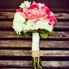 Ribbon tied bouquets you could even DIY!