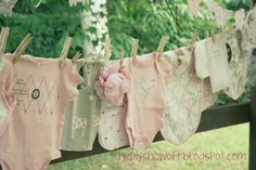 clotheslines, babies stuff, baby shower ideas, baby gifts, diy gift