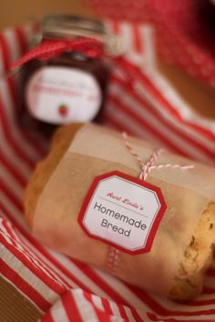 DIY tags and how to wrap food.