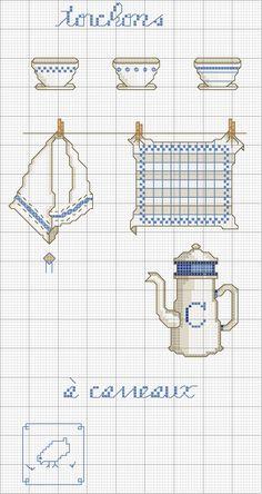 Schema punto croce Oggetti Cucina