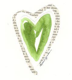color green, art idea, greenheart, valentin, green heart