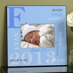 Personalized 5x7 Picture Frame - Baby Boy--  best thing I've bought. Great company to buy personalized items at a decent price