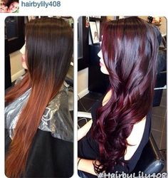 Black cherry hair color | Beauty | Pinterest