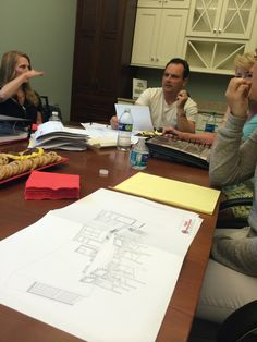 Approving final kitchen designs and cabinet selections at Tague #DesignHomePHL