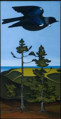 te henga, tui, galleries, artworks, auckland, don binney, pacific northwest, kauri, september