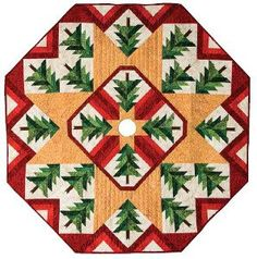 Get a gorgeous free Christmas quilt pattern for a tree skirt and enter for a chance to win some amazing quilting prizes from @American Quilter's Society!