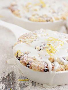 Blueberry Buttermilk Cake with Sweet Lemon Glaze