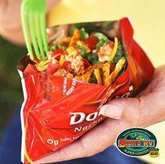 camp recip, diabetic living, diabet food, tacos in bag, small bag