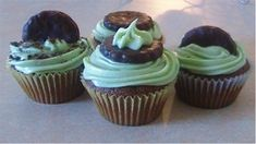 whole wheat thin mint chocolate cupcakes