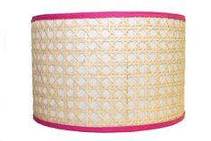 Love!!!  Hillary Thomas Hot Pink Cane Lamp Shade