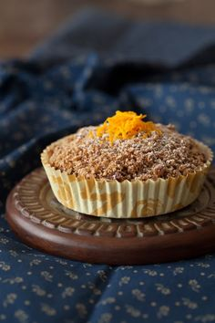 Carrot Morning Cakes with Oatmeal Crumb