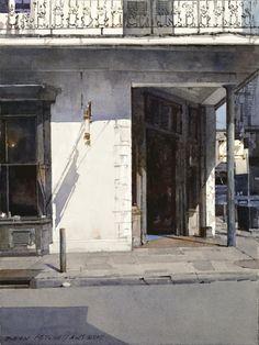 "Dean Mitchell - ""French Quarter Corner"", watercolor"