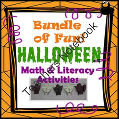 Halloween Math, Literact & Science fun!! Enter for your chance to win.  Halloween Bundle (Math & Literacy) (25 pages) from TeachingintheSunshine on TeachersNotebook.com (Ends on on 10-27-2014)  Fun printables!   � Candy War! Math Game  Pg. 3 Game Instructions  Pgs. 4-11 Print cards double-sided  Pgs 12-13 (Optional) print double-sided to create additional cards  Pg. 14 Game Record Sheet   � Halloween Acrostic Poem  Pg. 15   � Writing an Opinion Piece: My Pet Monster  Pgs. 16-17   � ...