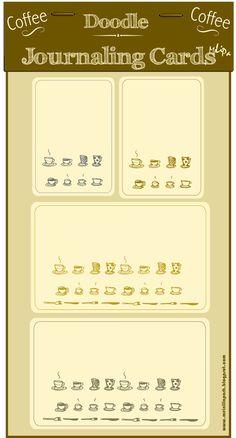 Coffee: free doodle journaling cards – digital and printable scrapbooking embellishment – Freebies | MeinLilaPark – digital freebies