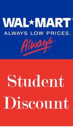 WALMART student discount!  #dorm #college