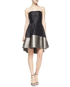 gorgeous strapless cocktail dress