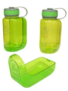 Save your Thermos from doggie slobber with this innovative BPA-free $13.00 water bottle with a discreet detachable bowl for your parched pet. #gifts #holiday #pets