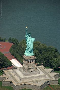 Statue of Liberty seen from above, New York