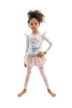 Big Top Circus Tights in grey and Liberty Rider tee | Rock Your Kid | www.rockyourbaby.com | girls fashion
