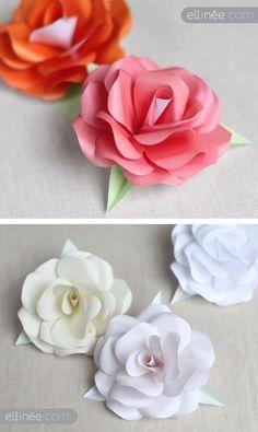 DIY - Paper Roses. Full Step-by-Step Tutorial. Plus Free Rose Template PDF Printable.