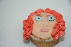 Disney Pixar's Brave Movie Cupcake that Sophia and I made together