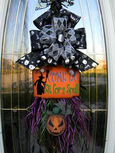 Inspiration for dollar store Halloween broom decoration