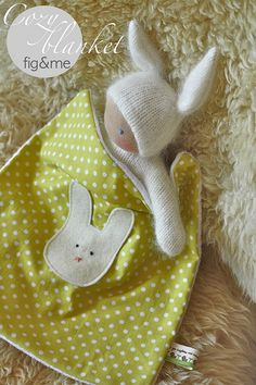 cute bunny and blanket by Fig & Me, via Flickr