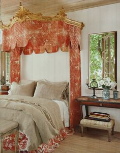 Canopy & side tables are 18th century French