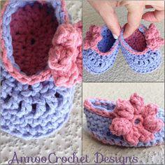 Annoo's Crochet World: Precious Newborn Fall Baby Booties Free Pattern ✿Teresa Restegui http://www.pinterest.com/teretegui/✿