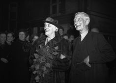 Sir William Beveridge, whose report on social security had brought his name in to the affairs of every home in the land, was married at Caxton Hall on Dec. 15, 1942, to his cousin  Janet 'Jessy' Mair. She had been his assistant since 1915 and they married after the death of her first husband David Mair (AP Photo)