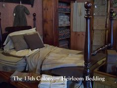Tons of heirloom bedding! coloni countri, primit bedroom, bedroom idea, countri antiqu, 13th coloni, folk art, farmhous bedroom, country homes, antiques