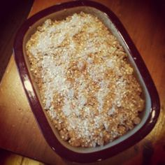 gluten free dairy free apple crisp with quinoa flakes