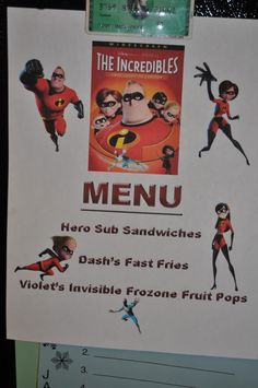 Family movie night complete with matching menu ideas