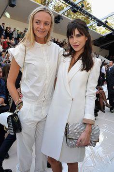 Chanel Front Row - Virginie Courtin Clarins and Caroline Sieber