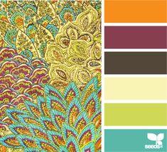 bathroom design, paint color combos, design seed, color palett, bathroom interior design, colors, pattern hue, tangerine color scheme, paint patterns