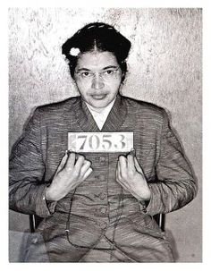 Rosa Parks, sat in front of the bus