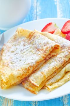 Basic Crepes: 1 C. all-purpose flour; 2 eggs; 1⁄2 C. milk; 1⁄2 C. water; 1⁄4 t. salt; 2 T. butter, melted____ Whisk together flour and eggs. Gradually add in milk and water, stirring to combine. Add salt and butter; beat until smooth. For best results, refrigerate for 1 hour or overnight.