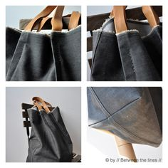 Denim bag by // Between the Lines //, via Flickr
