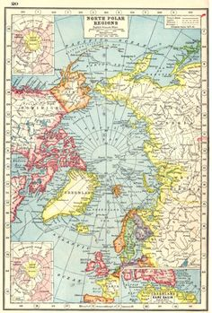 Google Image Result for http://www.antiquaprintgallery.com/ekmps/shops/richben90/images/arctic-north-pole-kane-basin-explorers-routes-1920-vintage-map- 119768-p.jpg This would make a great route map for Santa